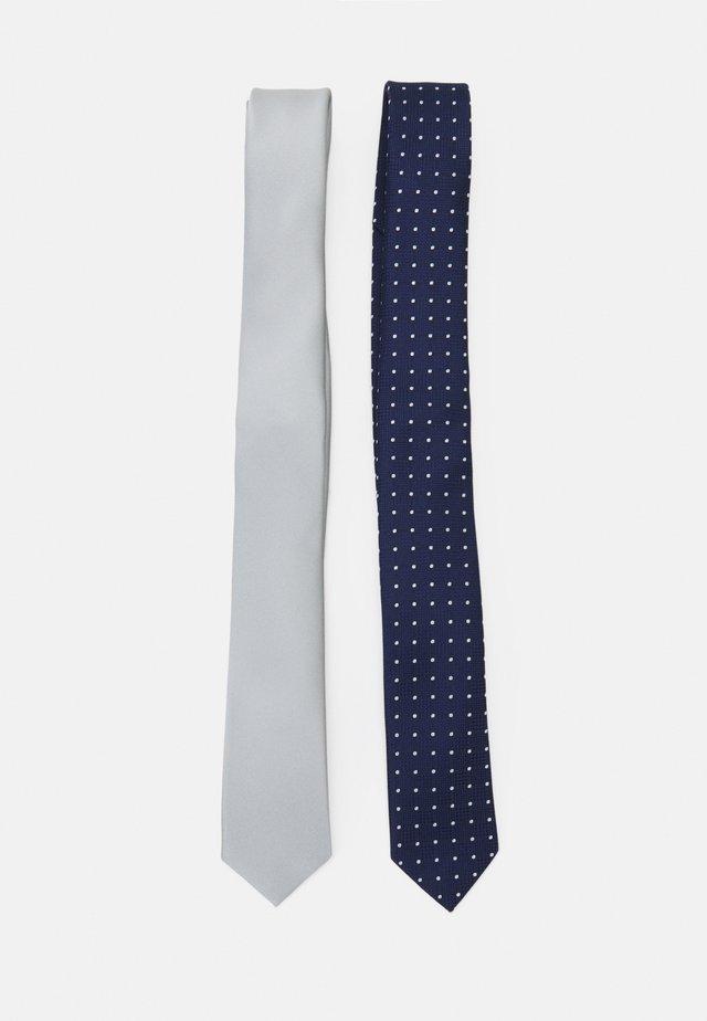 2 PACK - Tie - dark blue/off-white