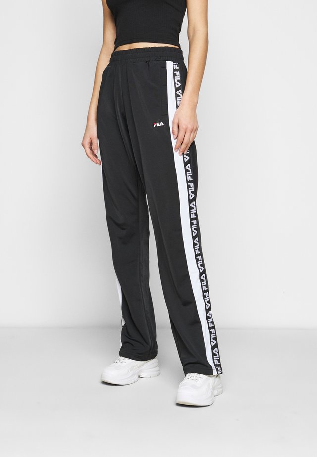 TAO TRACK PANTS OVERLENGTH - Træningsbukser - black/bright white