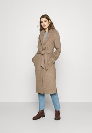 BELTED DAD COAT - Zimní kabát - oatmeal heather