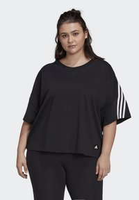 adidas Performance - AGRAVIC PARLEY PRIMEBLUE SHIRT TRAIL RUNNING - Print T-shirt - black/white - 0