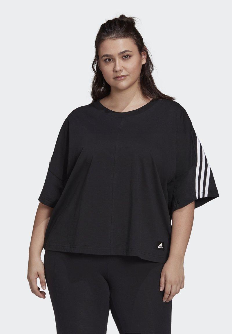 adidas Performance - AGRAVIC PARLEY PRIMEBLUE SHIRT TRAIL RUNNING - Print T-shirt - black/white