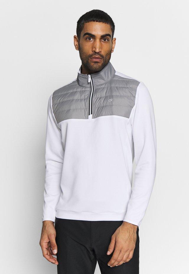 SHALEX HALF ZIP - Sweatshirt - white