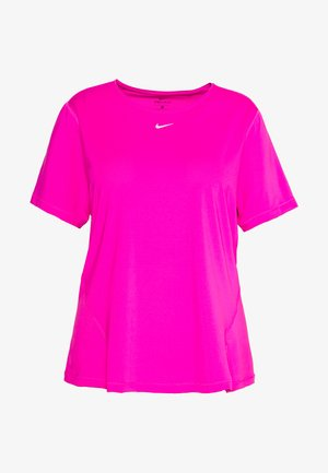 PLUS - Basic T-shirt - active fuchsia/white