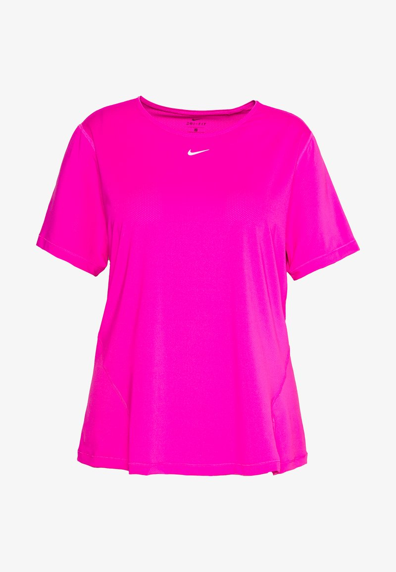 Nike Performance - PLUS - Basic T-shirt - active fuchsia/white