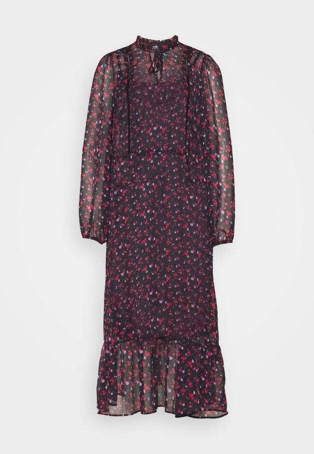 FORGET ME NOT MIDI DRESS - Korte jurk - black