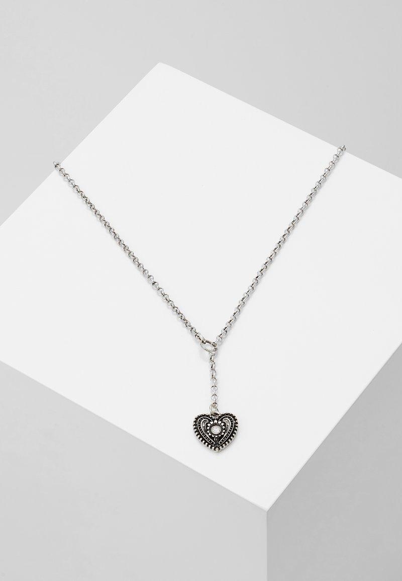 Alpenflüstern - TRACHTENHERZ - Necklace - silver-coloured