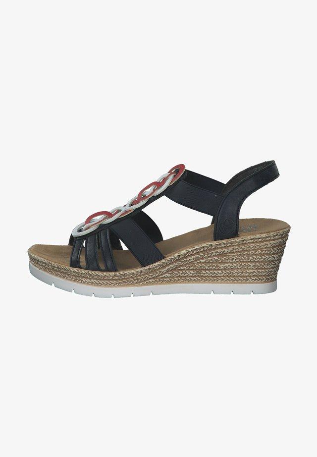 Sandalen met sleehak - pazifik/weiss/rosso