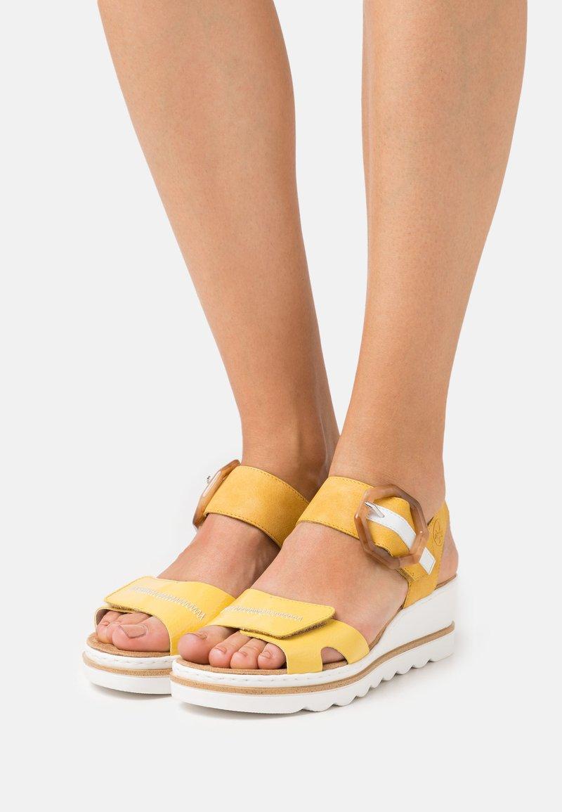Rieker - Platform sandals - gelb