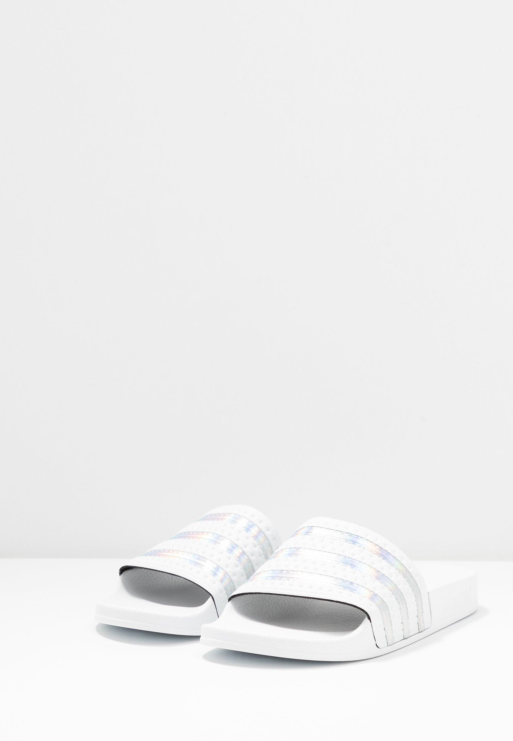 adidas Originals ADILETTE SPORTS INSPIRED SLIDES Pantolette flach crystal white/footwear white/weiß