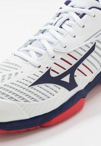 Mizuno - WAVE EXCEED TOUR 3 - Multicourt tennis shoes - white/astral aura/tomato - 5