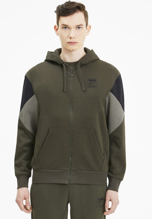 REBEL  - Zip-up hoodie - forest night