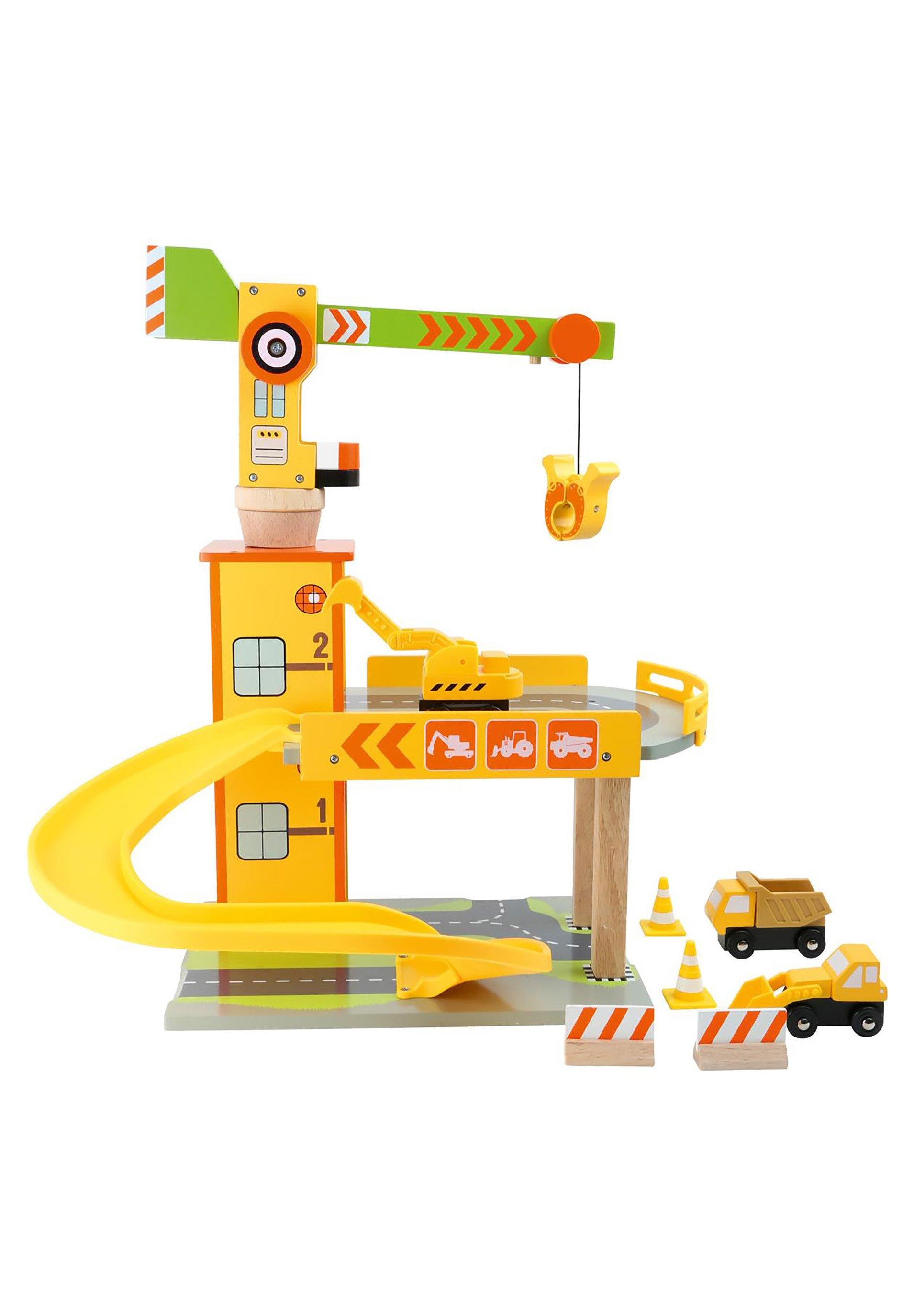 Kinder PARKGARAGEN PARKHAUS BAUKRAN - Spielzeug