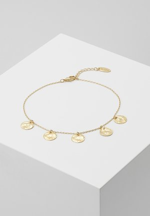 MULTI COIN DROP ANKLET - Náramek - pale gold-coloured