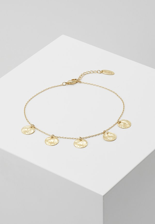 MULTI COIN DROP ANKLET - Bransoletka - pale gold-coloured