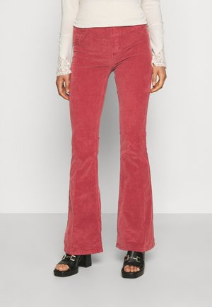 PULL ON FLARE - Trousers - garnet royale