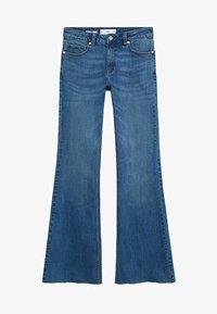 Mango - FLARE - Široké džíny - middenblauw - 5