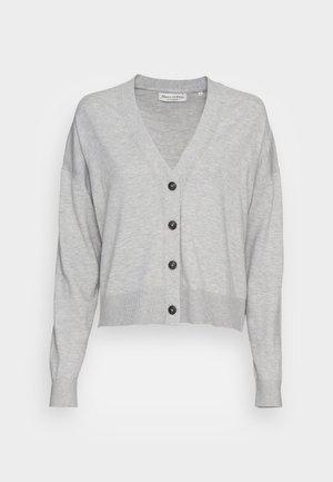 CARDIGAN LONGSLEEVE V-NECK BUTTON CLOSURE - Kardigan - stony grey melange