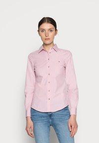 Tommy Hilfiger - REGULAR SHIRT - Button-down blouse - pink - 0