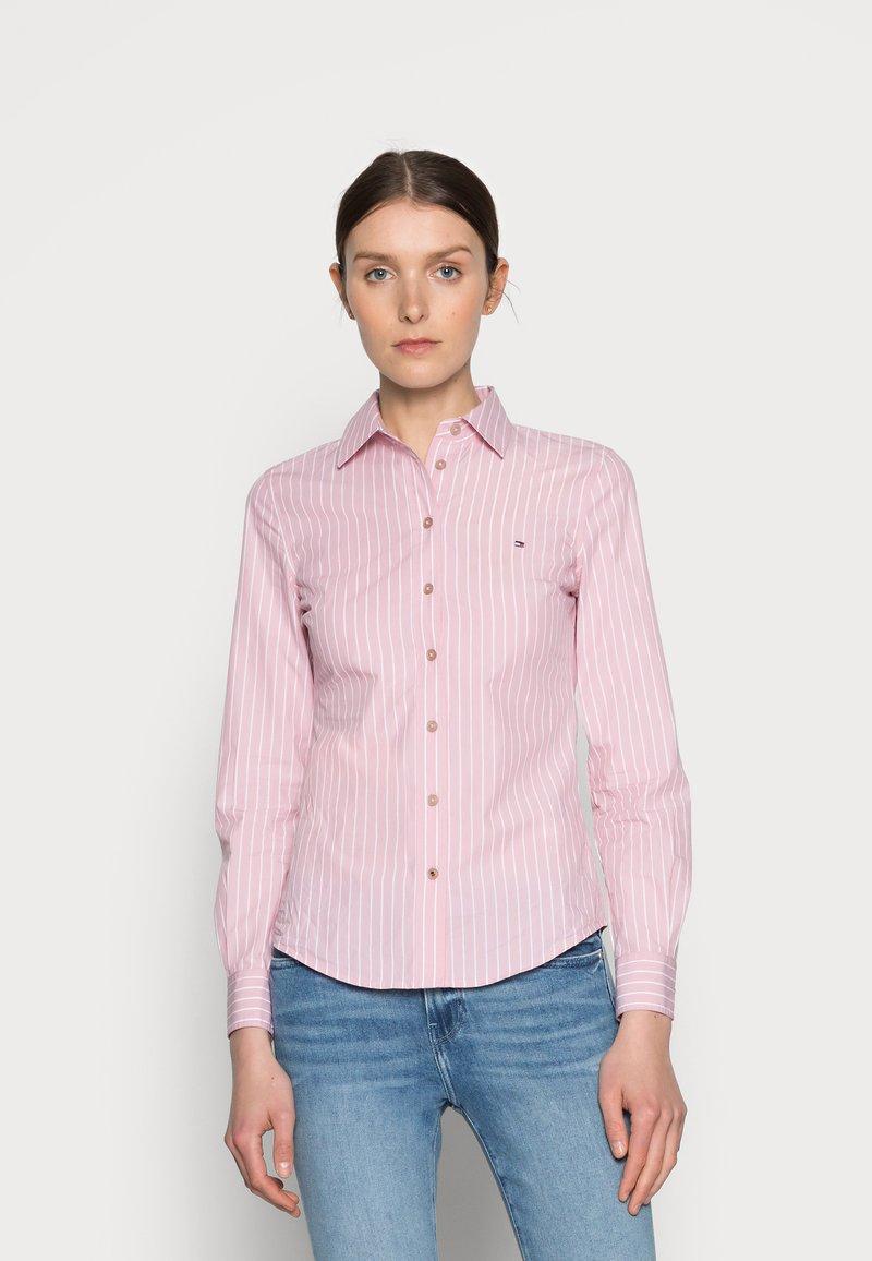 Tommy Hilfiger - REGULAR SHIRT - Button-down blouse - pink