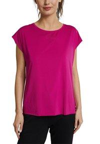 Esprit Sports - Basic T-shirt - berry red - 7
