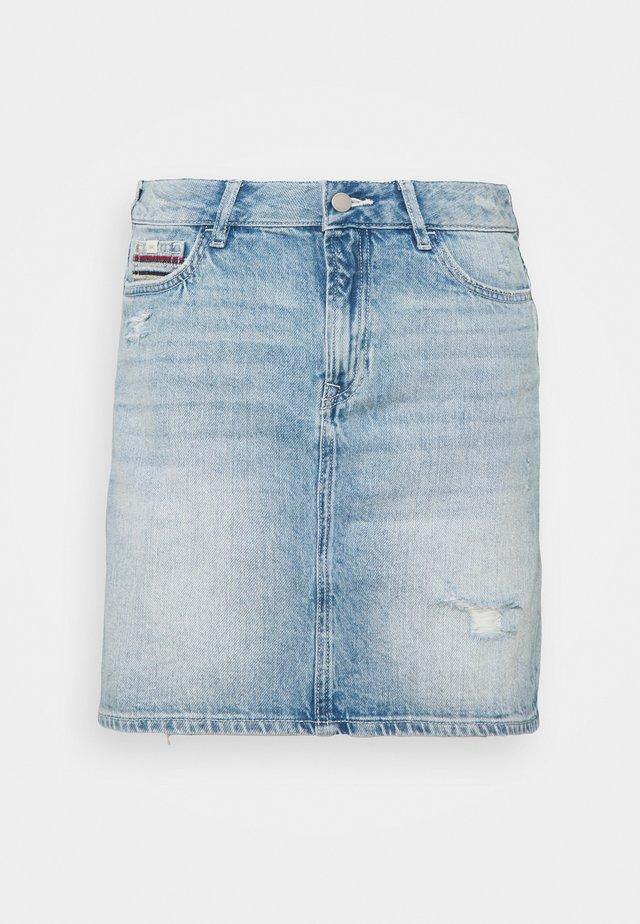 SKIRT - Mini skirt - blue light wash
