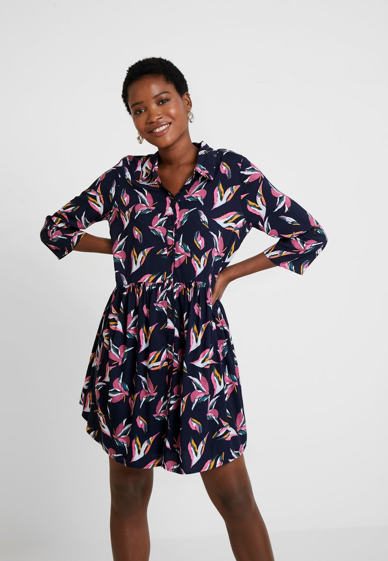 TOM TAILOR DENIM - FLUENT FEMININE DRESS - Shirt dress - blue