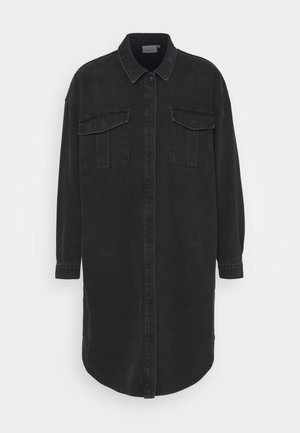 DANNI LONG - Classic coat - dark black wash