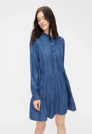 PCRIVER - Denim dress - dark blue denim