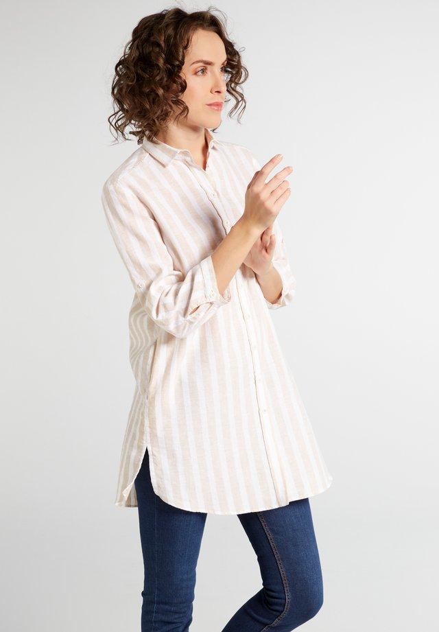 MODERN  - Button-down blouse - beige/weiss