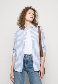 Polo Ralph Lauren - STRIPE LONG SLEEVE - Button-down blouse - white - 3