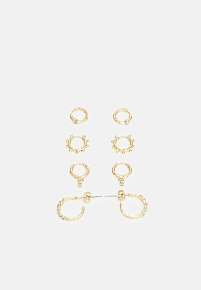 4 PACK - Earrings - gold-coloured
