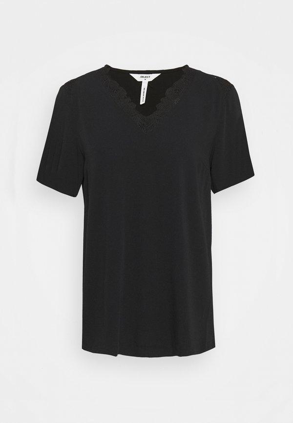 Object Tall OBJBEA NEW TALL - Bluzka - black/czarny BIKO