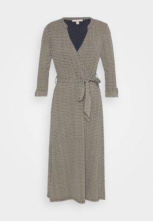 WRAP DRESS - Vestito di maglina - navy