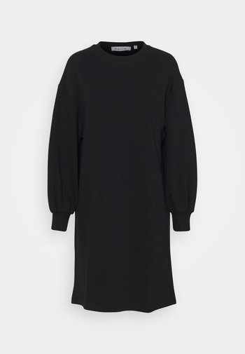 PUFF SLEEVE DRESS - Jurk - black