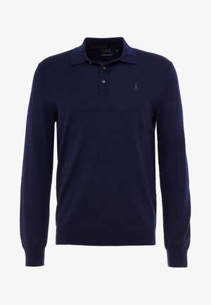 PLACKET - Strikpullover /Striktrøjer - hunter navy