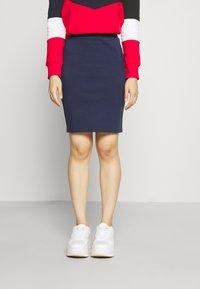 Tommy Jeans - BODYCON SKIRT - Mini skirt - twilight navy - 0