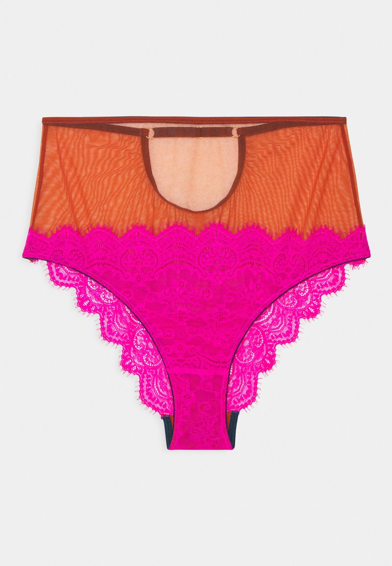 Dora Larsen - NATALIE HIGH WAIST KNICKER - Pants - bright pink