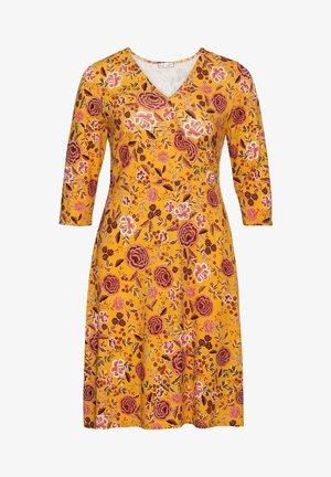 BY JOE BROWNS - Jersey dress - senfgelb bedruckt
