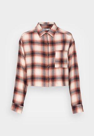 Skjorte - white/black/cinnabar plaid