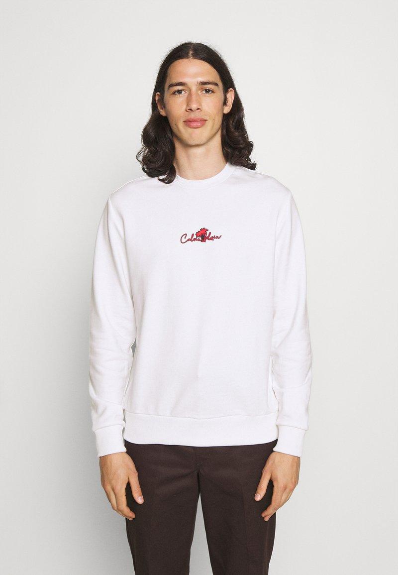 Calvin Klein - SUMMER CENTER LOGO - Felpa - bright white