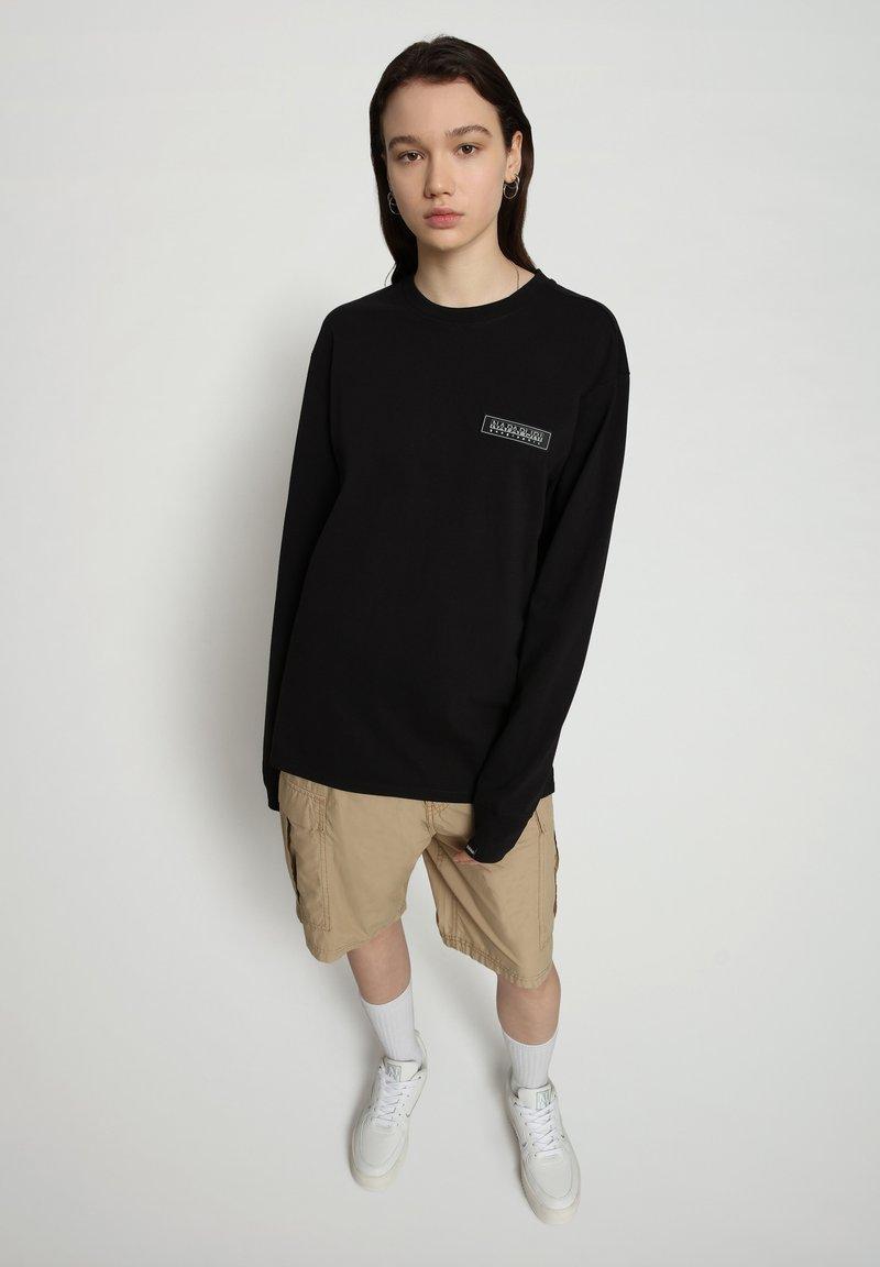 Napapijri - PATCH - Long sleeved top - black