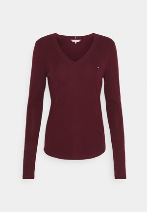 SLIM COSY - Long sleeved top - deep rouge