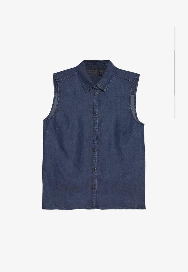 Skjorte - glossy blue denim