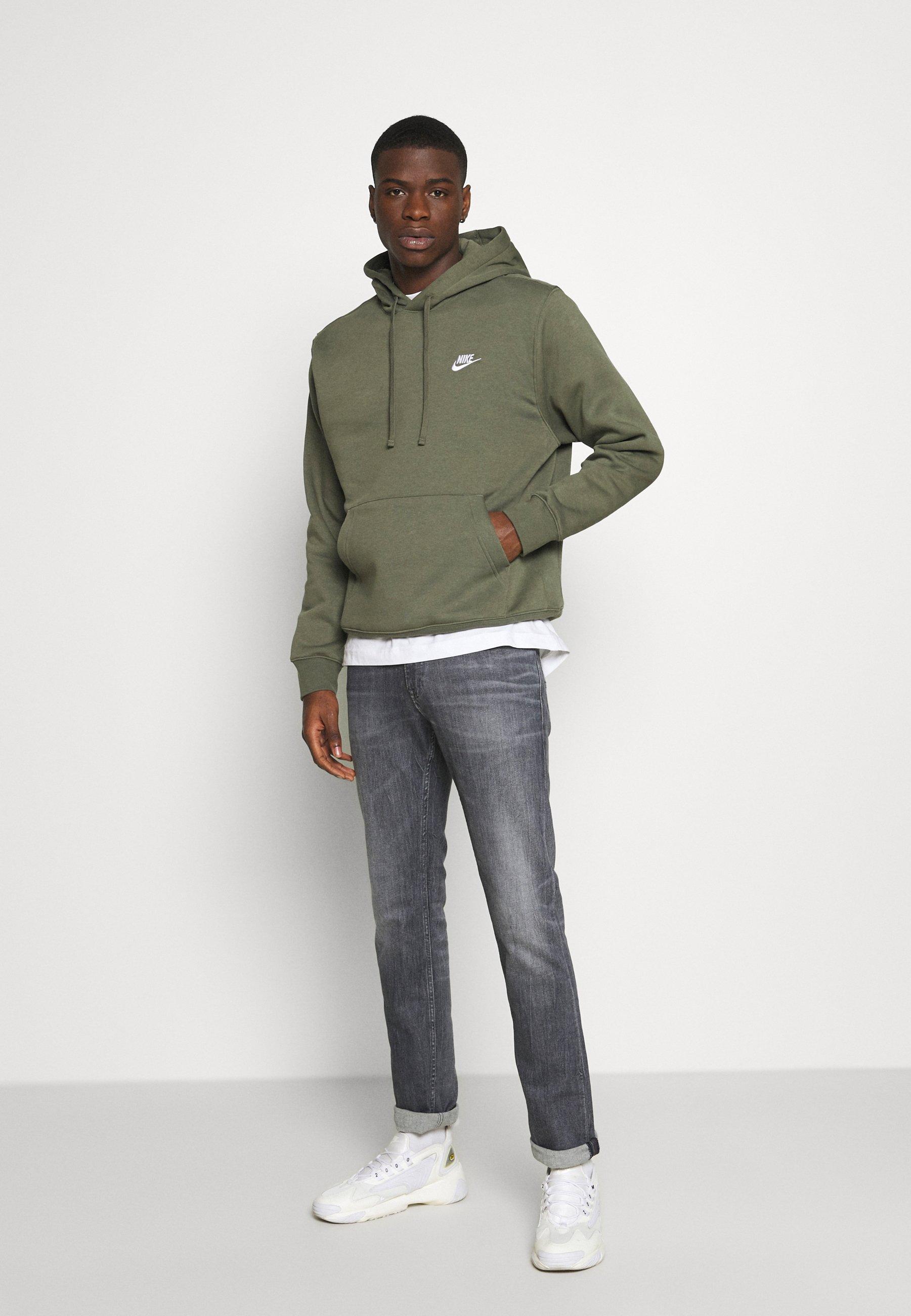 Nike Sportswear Club Hoodie - Twilight Marsh/white/mørkegrønn