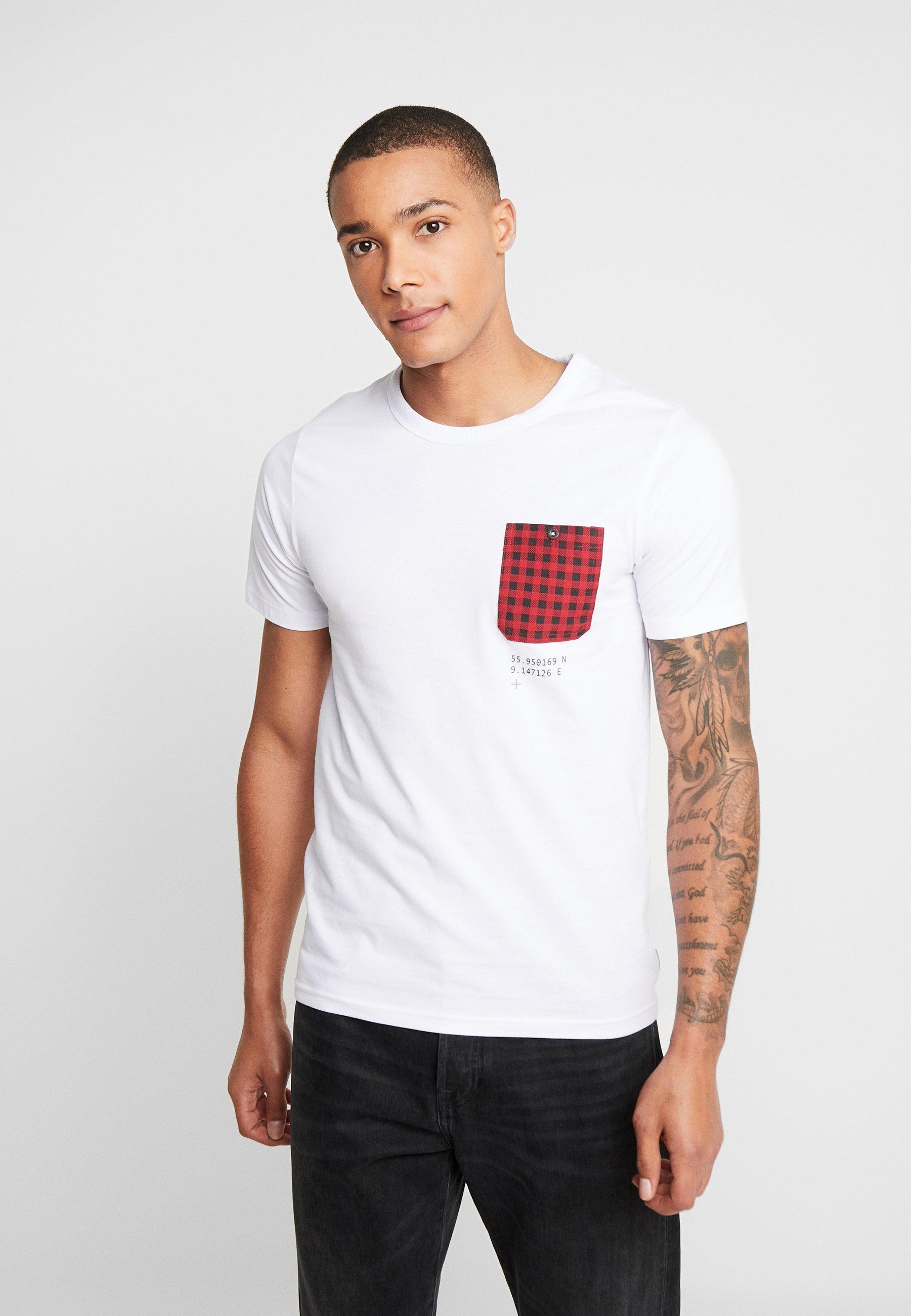 Uomo JCOCHECK TEE CREW NECK SLIM FIT - T-shirt con stampa