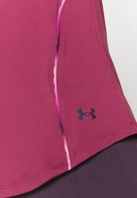 Under Armour - RUSH SCALLOP  - T-shirt con stampa - pink quartz - 4