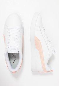 Puma - SMASH - Joggesko - white/peach parfait/silver - 3