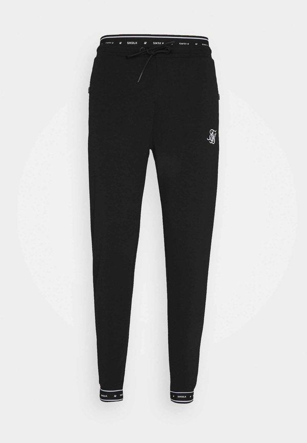 SIKSILK ACTIVE MUSCLE FIT - Spodnie treningowe - black/czarny Odzież Męska LMNH