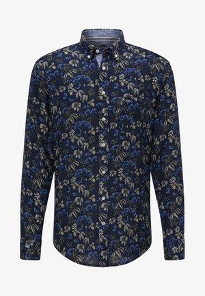 Shirt - navy flowers