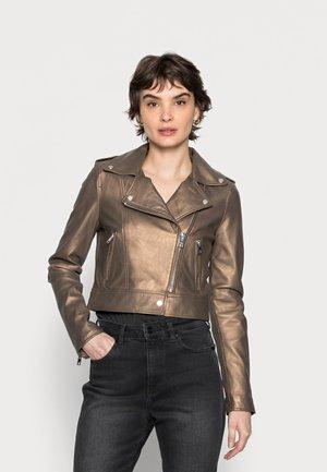 NIKKO - Leather jacket - antic brown